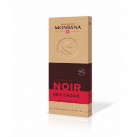 Tablette Chocolat Noir 65% Cacao minimum 100g - Monbana