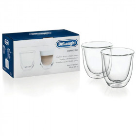 Lot de 2 tasses cappuccinos double parois Delonghi