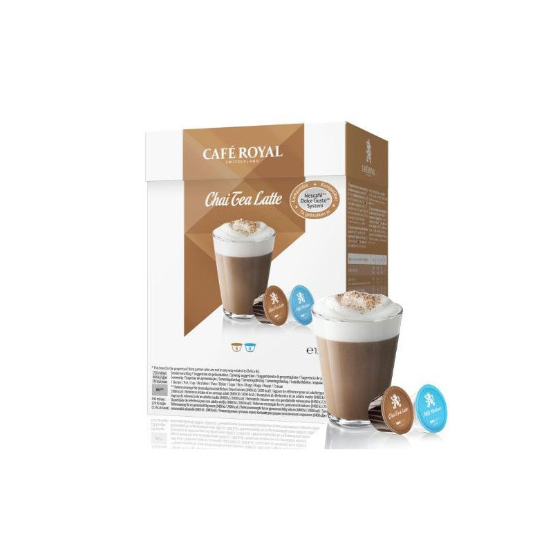 Café Royal Chaï Tea Latte, capsule compatible Dolce Gusto (8 + 8)